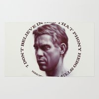 steve mcqueen Area & Throw Rugs featuring Steve McQueen by RSassi
