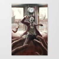 jack Canvas Prints featuring Jack by Rivenis Black