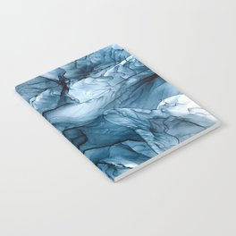Churning Blue Ocean Waves Abstract Painting Notebook