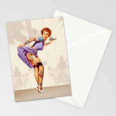 Redhead pin-up Stationery Cards
