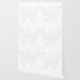 Intertwined Strength and Elegance of the Letter W Wallpaper