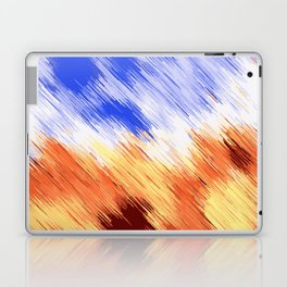 blue brown and white painting texture abstract background Laptop & iPad Skin