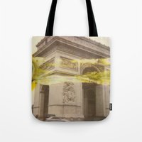 fault Tote Bags featuring The Fault in Triumph by ZEROCOOOOOL