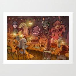 Irish Dinner Party Art Print