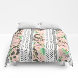 Pattern flowers and cactus Comforters