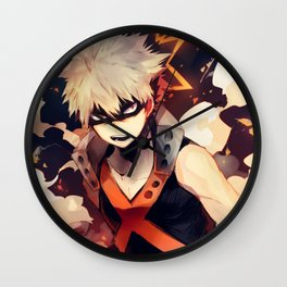 My Hero Academia Katsuki Bakugo Wall Clock