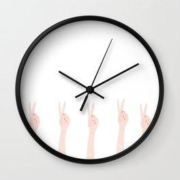 Yay For Peace Wall Clock