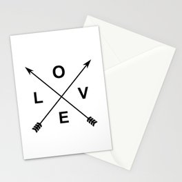 Love and Arrows Stationery Cards
