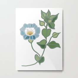Blue Bellflower Metal Print
