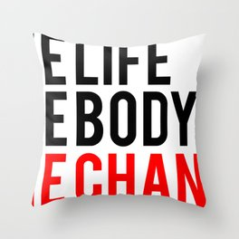 One Body One Life One Chance Fitness & Bodybuilding Motivation Quote Throw Pillow