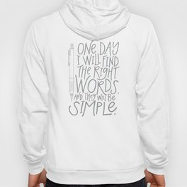 The Right Words Hoody