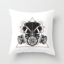 Gasmask Throw Pillow