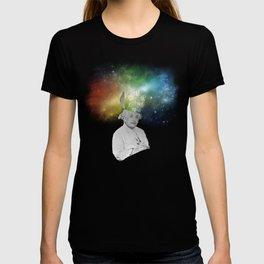 Albert Einstein With A Rainbow Galaxy T-shirt