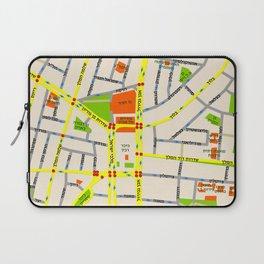 Tel Aviv map design - written in Hebrew Laptop Sleeve