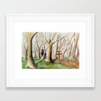 middle earth Framed Art Prints featuring Middle Earth by Jeff Moser Watercolorist