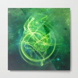 Essence Green Metal Print