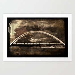 Arched Bridge Over Roosevelt Lake Art Print