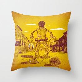 The Last Showdown - The good guy Throw Pillow