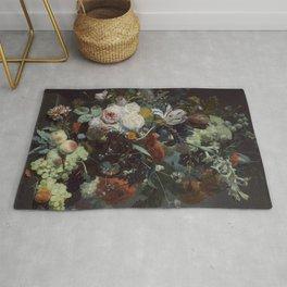 Jan van Huysum Still Life with Flowers and Fruit Rug