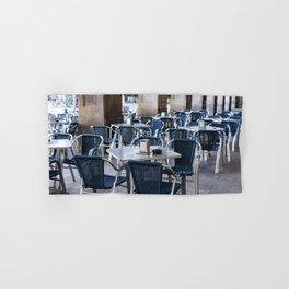 Cafe at Barcelona, Plaza Reial, Travel photography Hand & Bath Towel