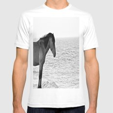 Assateague Pony Mens Fitted Tee White MEDIUM