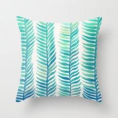 Seafoam Seaweed Throw Pillow