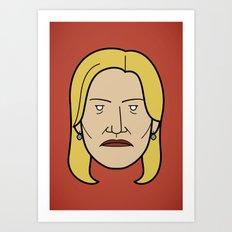 Face of Breaking Bad: Skyler White Art Print
