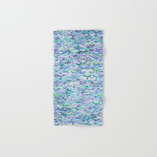 Marble Mosaic in Sapphire and Emerald Hand & Bath Towel