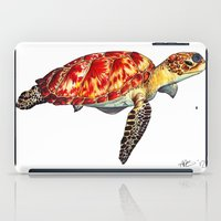 turtle iPad Cases featuring Turtle by Alexander Cox