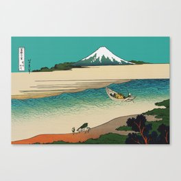 Tama River and Mount Fuji Canvas Print