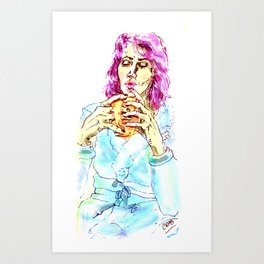 Coffee after shower- Coffee lovers- Art Print
