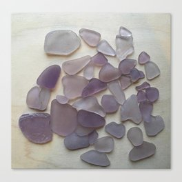 Genuine Purple Sea Glass Collection Canvas Print