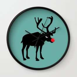Angry Animals: Rudolph the red nosed Reindeer Wall Clock
