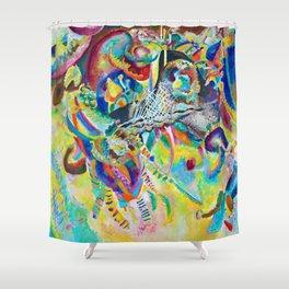 "Wassily Kandinsky ""Fugue"" (1914) Shower Curtain"