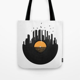Vinyl City Tote Bag