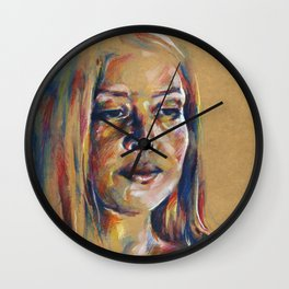 Portrait study II Wall Clock