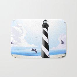 Cape Hatteras Lighthouse Beach Scene Bath Mat