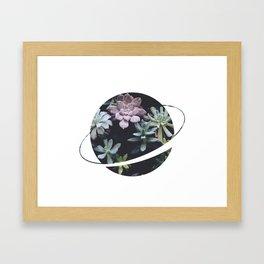 Planet Art Series - Blooming planet Framed Art Print