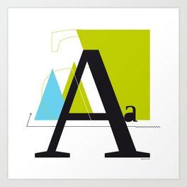 A a Art Print