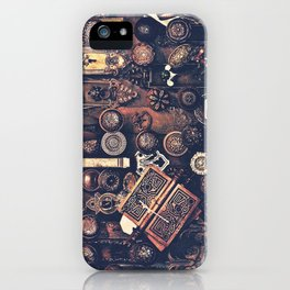 Collage of old door knobs iPhone Case