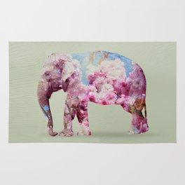 Cherry blossom Elephant Rug