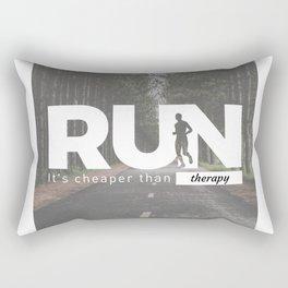 Run Cheaper Than Therapy Running Runners Treatment Rectangular Pillow