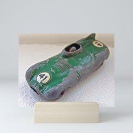 Small Green Racing Car Mini Art Print