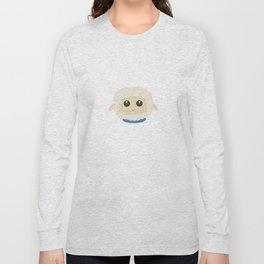 Cute little sheep with blue collar Long Sleeve T-shirt