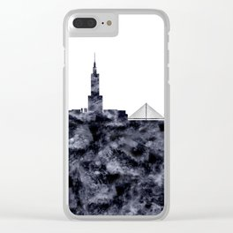 Warsaw Skyline Poland Clear iPhone Case
