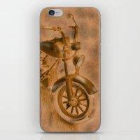 motorbike iPhone & iPod Skins featuring motorbike grunge by Christine baessler