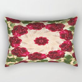 Old Red Rose Kaleidoscope 13 Rectangular Pillow