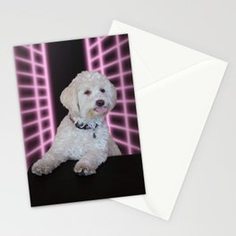 Max's 1990s Yearbook Photo: Pink Grid Stationery Cards
