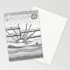 Voyage incertain (uncertain travel) Stationery Cards