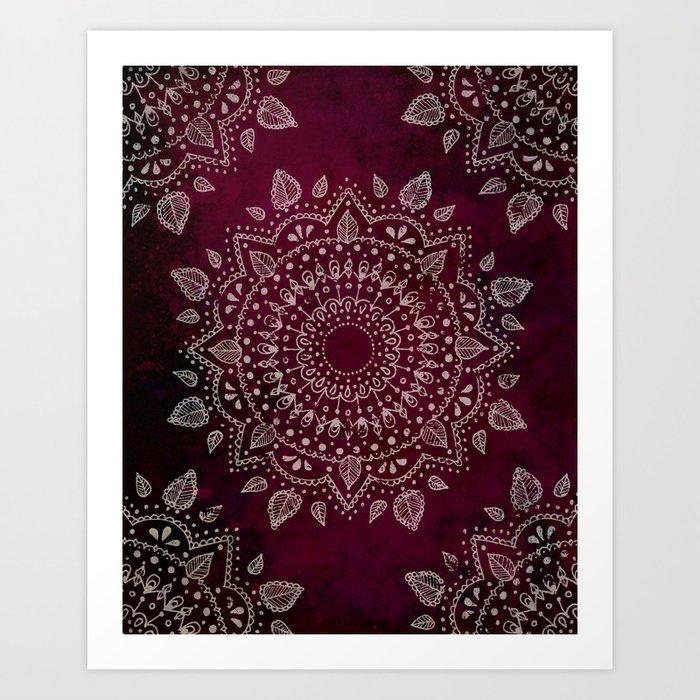 Wine Mandala Art Print